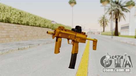 MP7A1 Gold para GTA San Andreas segunda tela