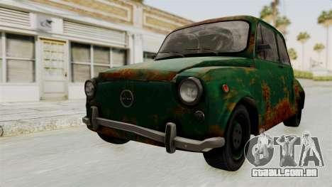 Zastava 750 Rusty para GTA San Andreas vista direita