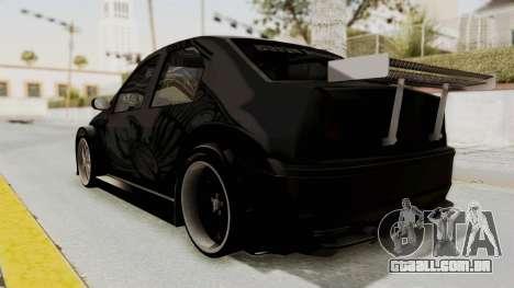 Dacia Logan Loco Tuning para GTA San Andreas esquerda vista