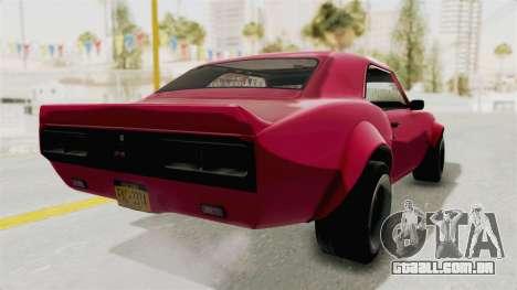 Chevrolet Camaro SS 1968 para GTA San Andreas esquerda vista