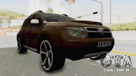 Dacia Duster 2010 Tuning para GTA San Andreas vista direita