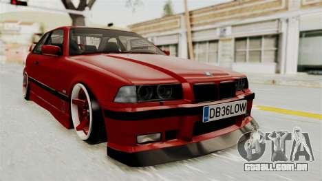 BMW 325i E36 Coupe para GTA San Andreas vista direita