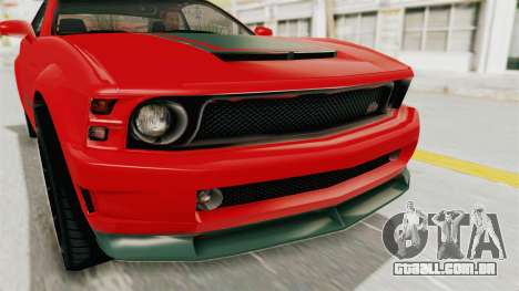 GTA 5 Vapid Dominator v2 SA Lights para GTA San Andreas vista interior