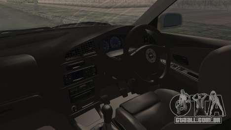 Mitsubishi Lancer Evolution VI Tenryuu Itasha para GTA San Andreas vista interior