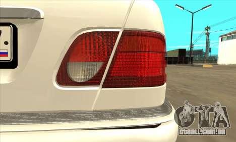 Mercedes-Benz E420 W210 para GTA San Andreas vista direita