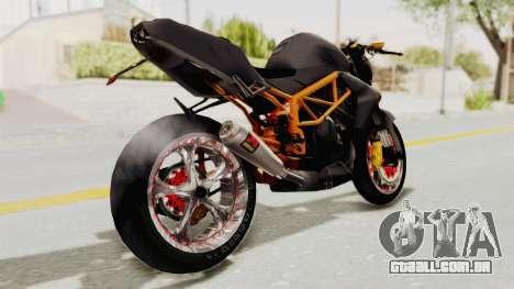 Kawasaki ER 6N Superbike para GTA San Andreas traseira esquerda vista