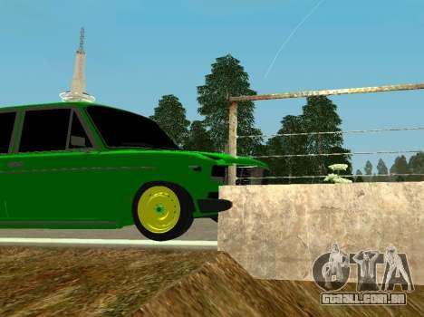 VAZ 2106 Shah para GTA San Andreas vista traseira