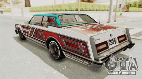 GTA 5 Dundreary Virgo Classic Custom v2 para GTA San Andreas vista superior