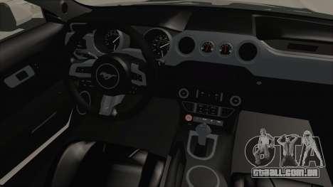 Ford Mustang GT 2015 Monster Truck para GTA San Andreas vista interior