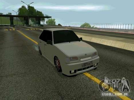 VAZ 2114 KBR para GTA San Andreas traseira esquerda vista