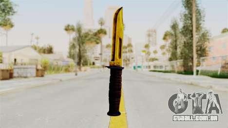 Knife Gold para GTA San Andreas