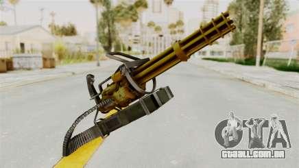 Minigun Gold para GTA San Andreas