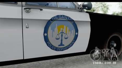 ГАЗ 24 de Polícia rodoviária Patrol para GTA San Andreas vista traseira