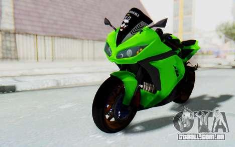 Kawasaki Ninja 250 Abs Streetrace para GTA San Andreas vista direita