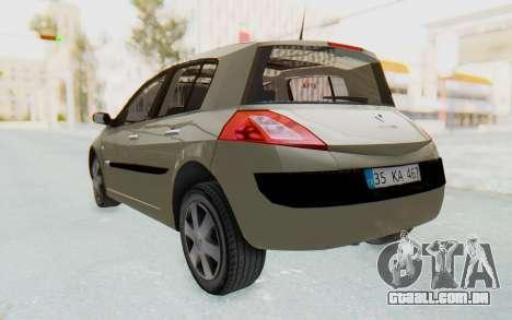 Renault Megane 2 para GTA San Andreas vista direita