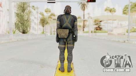 MGSV Phantom Pain Big Boss SV Sneaking Suit v1 para GTA San Andreas terceira tela
