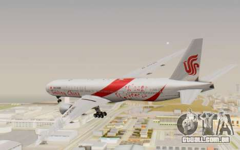 Boeing 777-300ER China Air para GTA San Andreas vista direita
