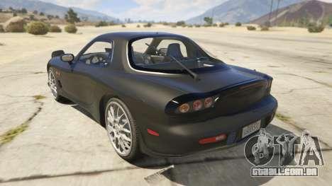 GTA 5 2002 Mazda RX-7 Spirit R Type traseira vista lateral esquerda