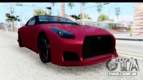 Nissan GT-R R35 Top Speed para GTA San Andreas vista direita