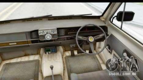 MGSV Phantom Pain Ambulance para GTA San Andreas vista interior