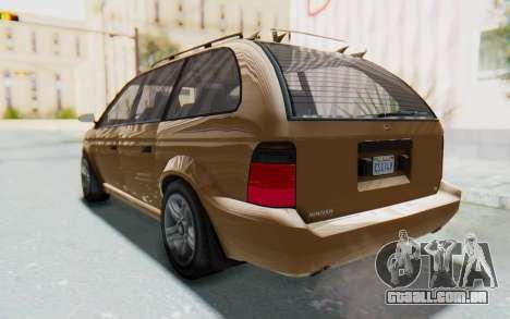 GTA 5 Vapid Minivan para GTA San Andreas vista direita