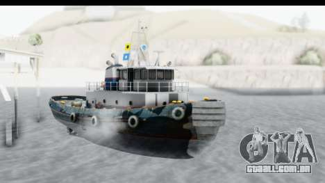 GTA 5 Buckingham Tug Boat v2 para GTA San Andreas vista direita