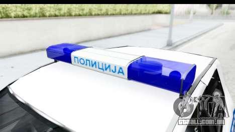 Fiat Punto Mk2 Policija para GTA San Andreas vista interior