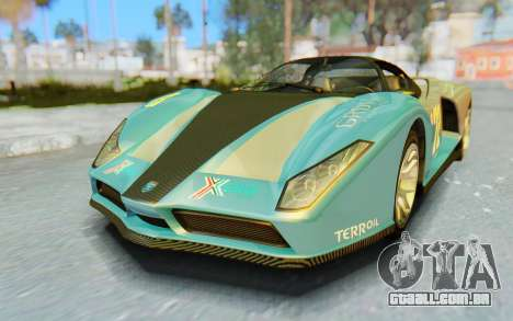 GTA 5 Grotti Cheetah IVF para GTA San Andreas vista inferior