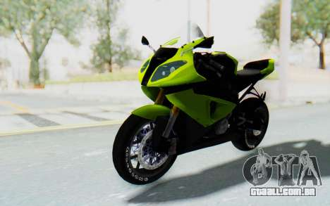 BMW S1000RR HP4 Modification para GTA San Andreas vista direita
