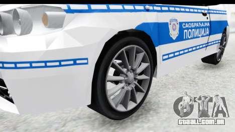 Fiat Punto Mk2 Policija para GTA San Andreas vista traseira