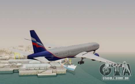 Boeing 777-300ER Aeroflot para GTA San Andreas vista direita