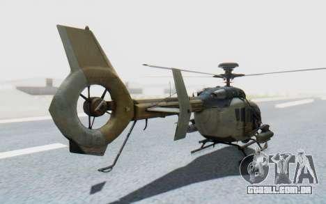 CoD Ghosts - EC-635 para GTA San Andreas esquerda vista