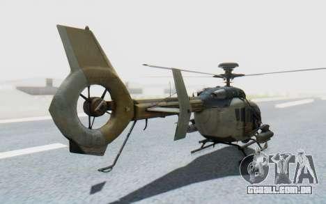 CoD Ghosts - EC-635 para GTA San Andreas esquerda vista
