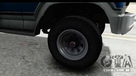 Ford Bronco 1980 para GTA San Andreas vista traseira