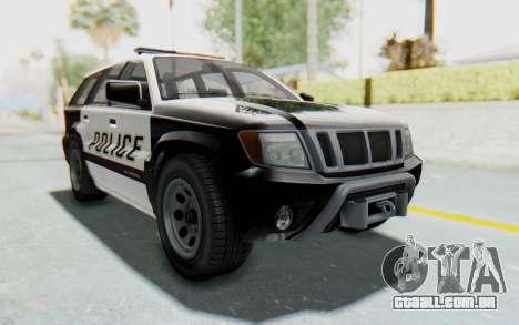 Canis Seminole Police Car para GTA San Andreas vista direita