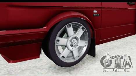 Volkswagen Golf VeloCiti 2008 Updated para GTA San Andreas vista traseira