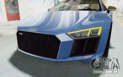 Audi R8 2017 para GTA San Andreas vista superior