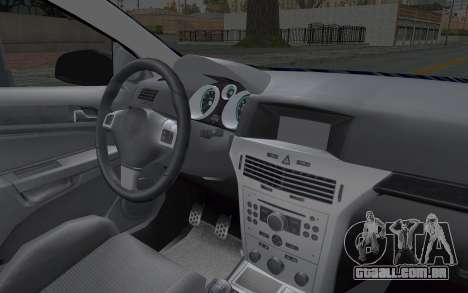 Opel Astra para GTA San Andreas vista interior
