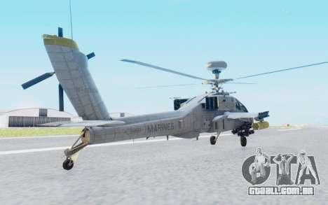 AH-64 Apache Marines para GTA San Andreas esquerda vista