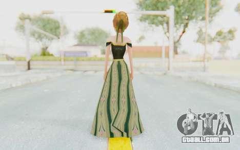 Frozen - Anna Coronation Dress para GTA San Andreas terceira tela