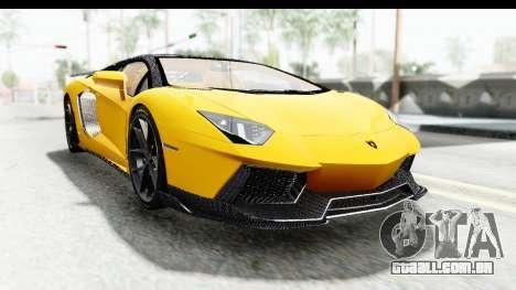 Lamborghini Aventador LP700-4 LB Walk para GTA San Andreas vista traseira