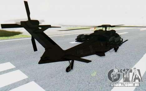 MGSV Phantom Pain UTH-66 Blackfoot para GTA San Andreas esquerda vista