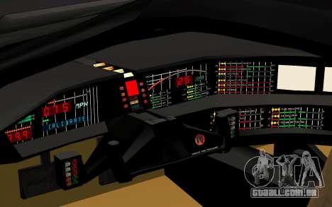 K.I.T.T. 2000 Pilot para GTA San Andreas vista traseira