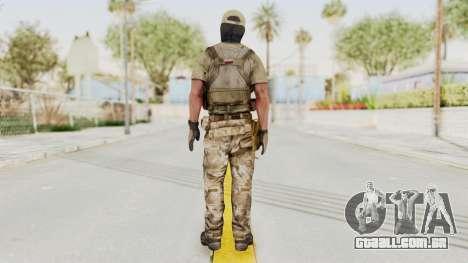 MOH Warfighter Grom Specops para GTA San Andreas terceira tela
