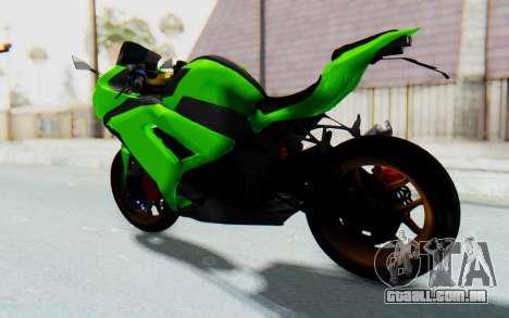 Kawasaki Ninja 250 Abs Streetrace para GTA San Andreas traseira esquerda vista