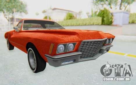 Buick Riviera 1972 Boattail Lowrider para GTA San Andreas vista direita