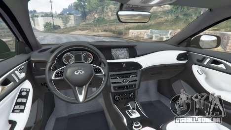 GTA 5 Infiniti Q30 2016 vista lateral direita