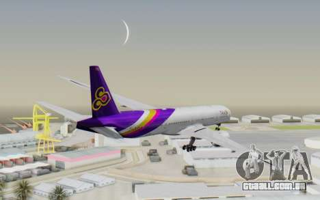 Boeing 777-300ER Thai International Airways para GTA San Andreas vista direita