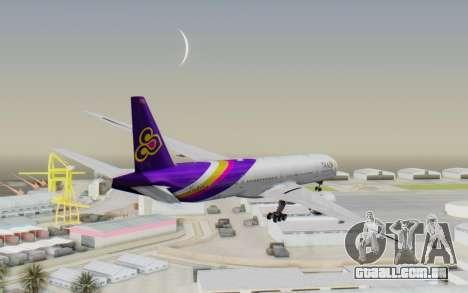 Boeing 777-300ER Thai International Airways para GTA San Andreas vista direita