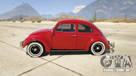 GTA 5 1963 Volkswagen Beetle 1.0.1 vista lateral esquerda